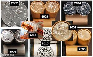 11-UNC-50c-Commem-50-cent-2001-2002-2003-2004-2x-2005-2010-2014-2016-2017-2019