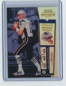 Details About 2000 Playoff Contenders Championship Rookie Ticket Tom Brady Rookie Card Rp Goat