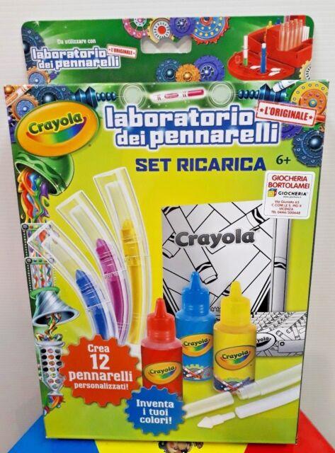 CRAYOLA SET RICARICA per LABORATORIO DEI PENNARELLI Nuovi color Originale t1