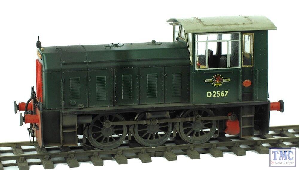 25901 Heljan O Gauge Class 05 Diesel Shunter D2567 BR Plain Green Weathered