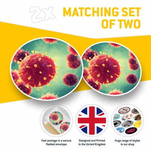 3D pathogènes Virus biologie Cool Cadeau #13192 2 x Vinyle Autocollants 7.5 cm