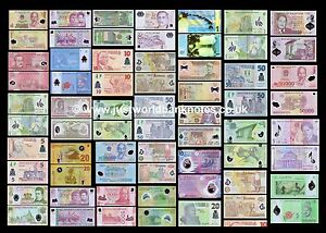 Polymer-Banknotes-Various-Countries-Multi-Listing