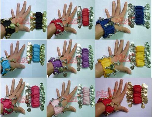 Belly Dance Bracelets Wrist Cuff Gold Silver Coin Bracelets Bollywood Dancing