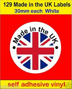 Made In The UK Union Jack Flag Soap Candle Card Labels Vinyl - Vinyl stickers uk