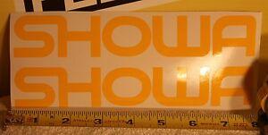 VINTAGE MOTOCROSS orange Simons fork decal stickers YZ CR KX RM 125 250 400 465