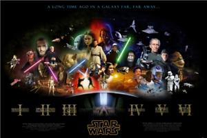 Star Wars Poster Marvel Wallpaper Comic Sticker Mural Kids Room Decor Fan Gifts Ebay