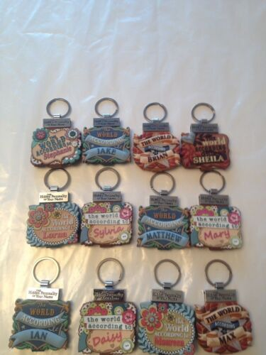 TOP SELLER Rare Name Meaning Keyrings Very Hard to find these with full details