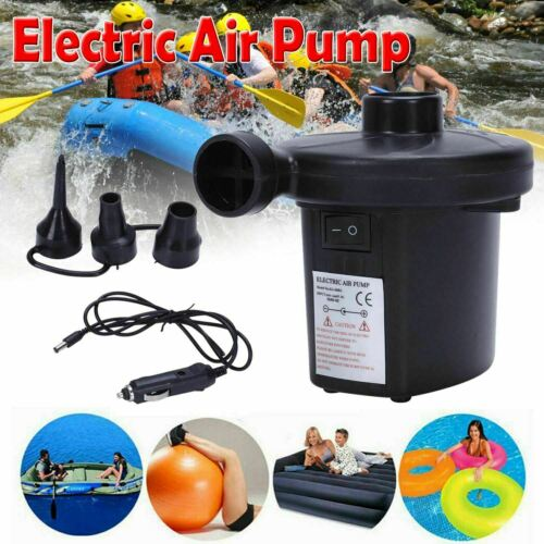 Electric Air Pump Inflator for Inflatables Camping Bed pool 220V 12V Car UK
