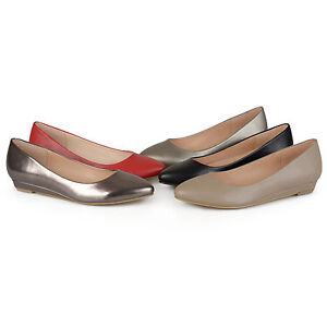 Brinley-Co-Womens-Almond-Toe-Classic-Wedges-Slip-On-New