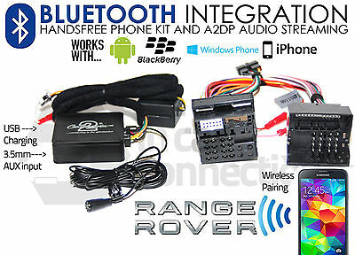 Bluetooth USB mp3 kit manos libres para original país range rover l322 radio
