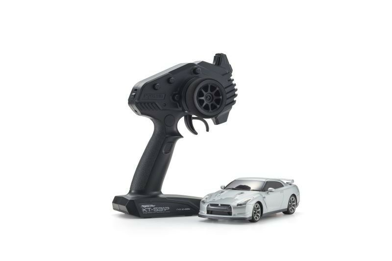 KYOSHO MINI-Z RWD NISSAN GTR r35 ULTIMATE argentoO METALLIZZATO RTR - 32331s