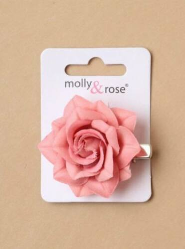 Girls Small Pastel Fabric Rose Flower Beak Clip Hair Slide Kids Accessories