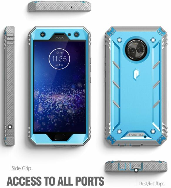 watch 3b5d7 eedf8 Poetic Revolution Full-body Rugged Heavy Duty Case for Motorola Moto X4 Blue