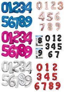 Numero-Feuille-Ballons-Geant-86-4cm-Tous-Ages-Qualite-Helium-Chiffre