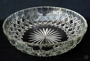 Crystal-Cut-Glass-Bowl-In-Hobnail-And-Star-Cut-Design-25cm-FREE-Delivery-UK