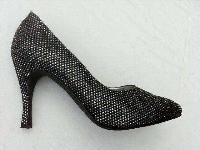 Zapatos de salón, tacón alto, 9,5 CM, multiColor multiColor multiColor  glitter  talla 40 (41), usado  tienda de venta en línea