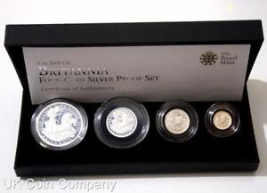 2009 Britannia Fine Silver Proof Four Coin Collection Boxed & Certificate