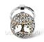 Tree of Life Photo Cabochon Glass Tibet Silver Keychain Keyring#SU13