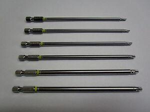 8x Torx-Schraubendreher-Bitsatz Hex-Sicherheits-Magnetkopf 150MM Extra Lang Kits