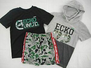 $54 Casual Shirt 5 6 /& 7 Boys Ecko Unltd T-Shirt /& Shorts 3PC Set Sizes 4
