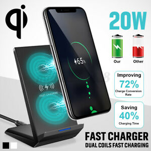 20W-Double-coil-Qi-Wireless-Fast-Charger-Stand-Dock-Pad-For-iPhone-11-pro-max