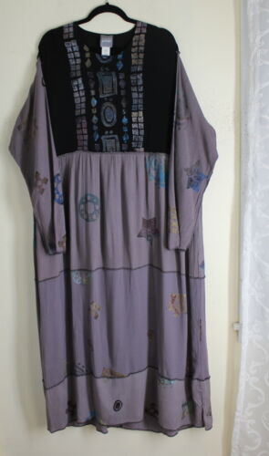 Staley Gretzinger PURPLE Rayon Rich Tiered Tribal