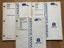 New Holland 565 570 575 580 Square Baler Factory Service Amp Operators Manuals