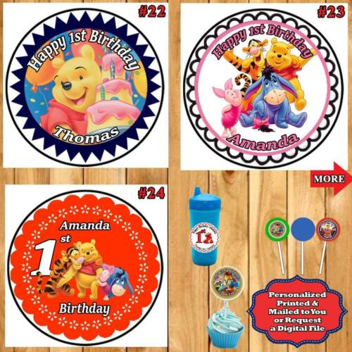 Baby 1st Birthday Stickers Labels Round 1 Sheet Personalized Custom Made