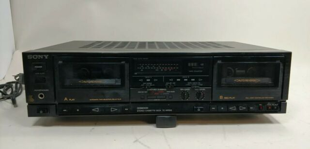 Sony TC-WR610 Dual Tape Deck Player Stereo Cassette Recorder