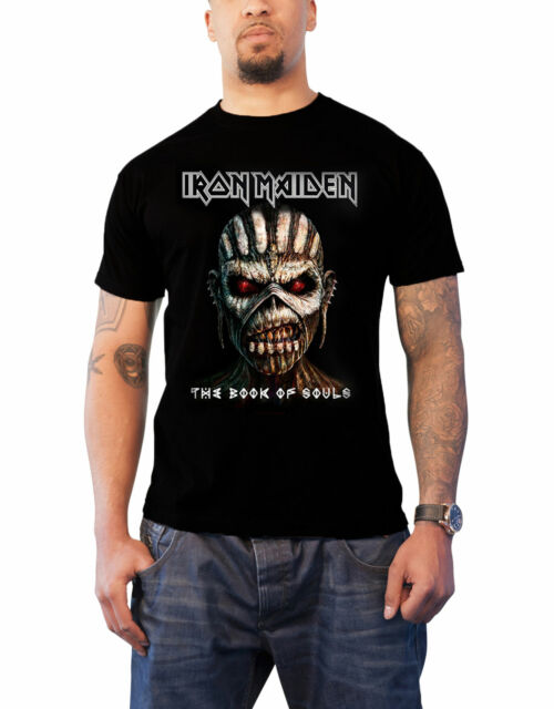 OFFICIAL LICENSED BOOK OF SOULS TOUR T SHIRT EDDIE HEAVY METAL IRON MAIDEN