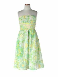 Youth Yellow Green Strapless Dress Size
