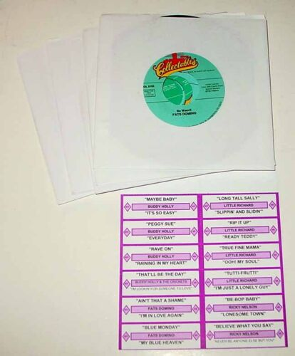 New Rock N Roll Greatest Hits Vol 1 45 RPM Jukebox Record Set With Title Strips