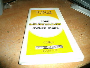 NOS 1984 FORD MUSTANG AND MUSTANG GT FACTORY FORD ORIGINAL OWNERS MANUAL NEW