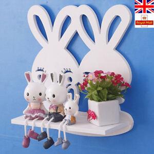 Swan-Rabbit-Floating-Wall-Shelves-Storage-White-Kids-Room-Display-Storage-Shelf