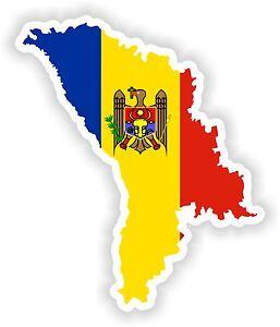 Moldawien Karte.Details Zu 1x Aufkleber Moldawien Silhouette Stoßstange Aufkleber Karte Flagge