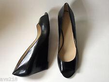 New inBox Nine West Pumps Women Shoes Wedge Heels Black 12M 12 Powersurge