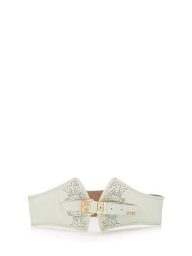pelle Nuovo 100 in con vera crema cinturino logo color qAv6A7