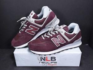 super popular a8e1a dfa7e Details about New Balance 574 Shoes ML574EGB Burgundy Men's Sz 9