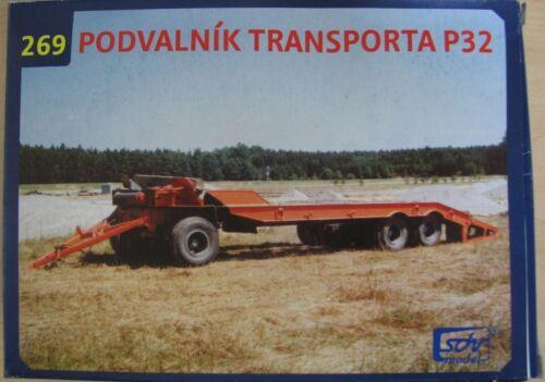 Modellbau Kunststoff Modellbausatz Anhänger Tieflader P 32 SDV 269 1:87 H0