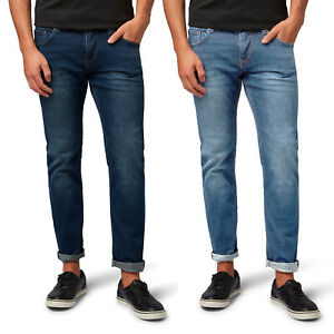 TOM TAILOR Denim Herren Piers Slim Jeans Stone Wash Stein Waschung Stretch