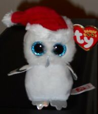 """Ty Beanie Boos Key Clip ~ TINSEL the 3"""" Owl ~ Claires Exclusive~ NEW ~ IN HAND"""