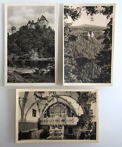 3x-DDR-Postkarte-von-BURGK-Saale-Thueringen-Ansichtskarten-Lot-Kleinformat-1957