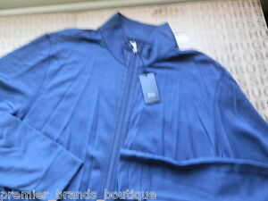 NEW-HUGO-BOSS-MENS-BLUE-TRACKSUIT-TOP-ZIP-UP-SPORTS-SWEATER-CARDIGAN-JUMPER