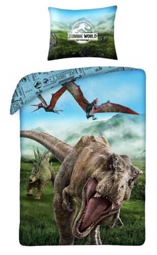 Jurassic World Bettwäsche Dinosaurier Kinderbettwäsche Set 140x200 T-Rex Dino