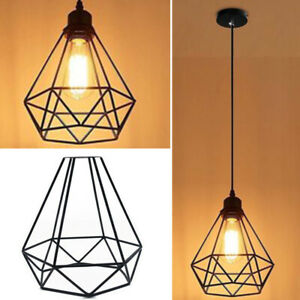 Details About Modern Retro Wire Frame Ceiling Pendant Light Shades Fit Lighting Lampshade Uk