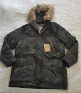 22a8b603f Details about NEW MEN'S M XL J CREW NORDIC DOWN PARKA IN DARK CAMO WITH  ECO-FRIENDLY PRIMALOFT