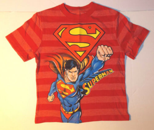 Superman Boys T-Shirt Red Sizes 4 or 5-6 NWT