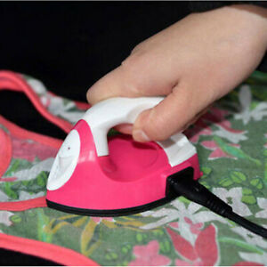 Clothes-Electric-Mini-Iron-Small-Portable-Travel-Crafting-DIY-Fast-Ironing-AU