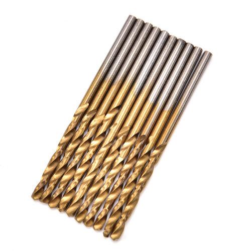 1//1,5//2// 2,5//3mm Titanium Beschichtet HSS Schnellarbeitsstahl Bohrer Set Hot YE