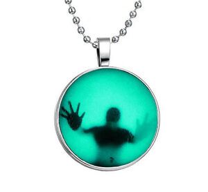 Fashion-Punk-Style-Glow-in-the-Dark-Stainless-Steel-Necklace-Pendant-NEW